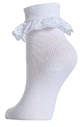 Baby to Girls White Cotton Lace Socks