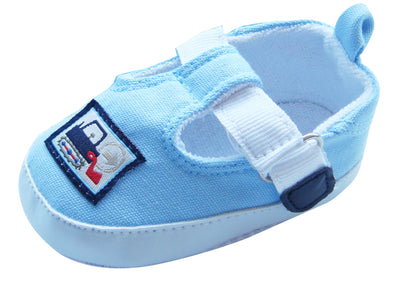 MABINI Baby Boys T-Bar Shoes / Booties With Tractor Logo