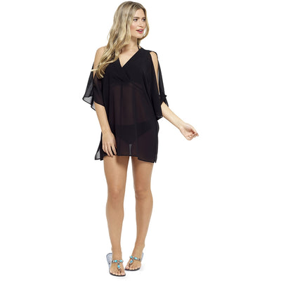Black Bikini Swimsuit Beach Cover Up