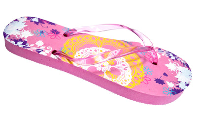 OCTAVE Ladies Summer Beach Wear Flip Flops Collection - Lace Design