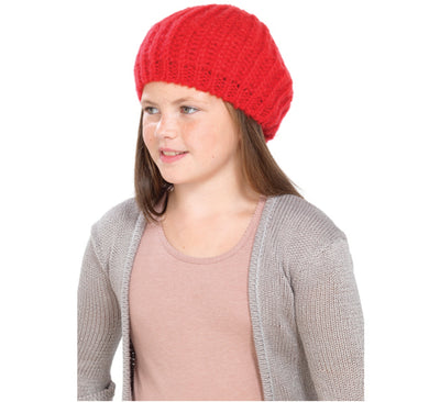 Girls Knitted Beanie Beret Hat