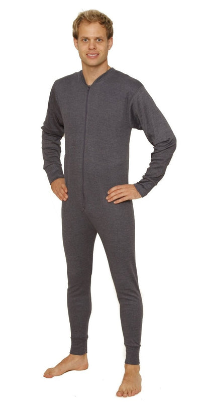 Thermal Underwear All-In-One Union Suit grey