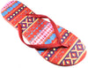 Flip Flop Aztec Design Red
