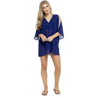Navy Bikini Swimsuit Beach Cover Up