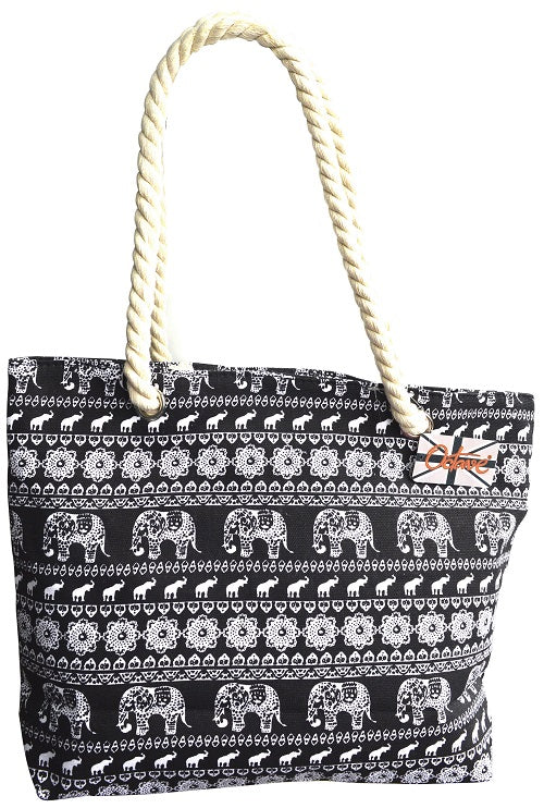 OCTAVE Summer Beach Tote Handbags Collection - Elephant Design