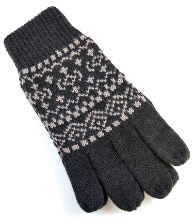 OCTAVE Mens Fairisle Design Knitted Gloves