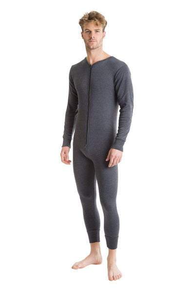 Octave® Mens Thermal Underwear All-In-One Zip Back Flap Union Suit