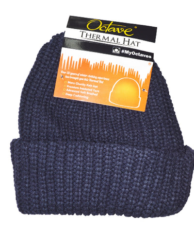 Octave Mens Chunky Knit Thermal Hat
