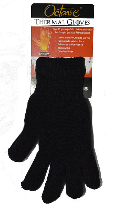 OCTAVE Ladies Luxury Chenille Thermal Gloves