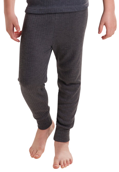 Boys Thermal Underwear Long Pants Grey