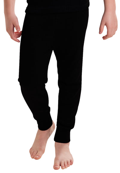 Boys Thermal Underwear Long Pants Black