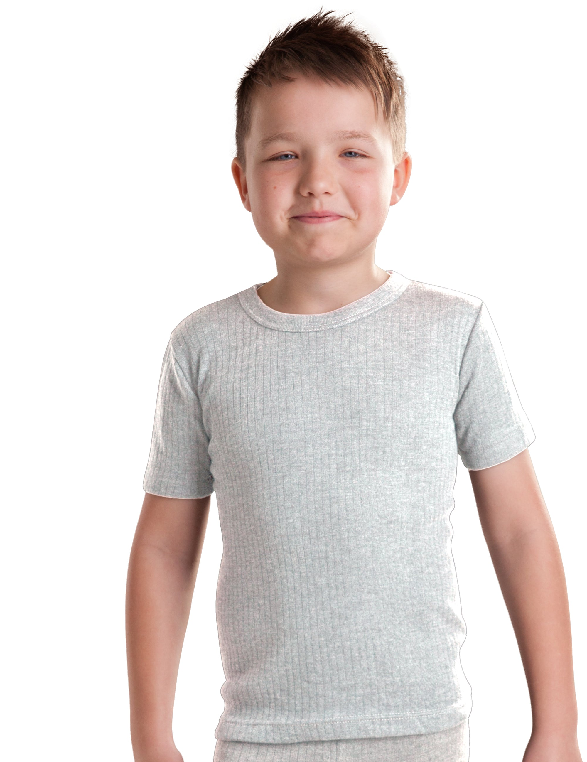 Extra Warm British Made RP Collections® Boys Thermal Underwear Short-Sleeve Top