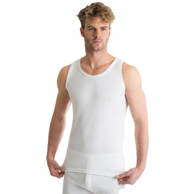 RP Collections® Mens Extra Warm British Made Thermal Underwear Sleeveless Vest