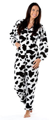 OCTAVE Ladies Cow Design Animal Hooded Onesie Loungewear All In One