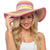 Octave Ladies Holiday Sun Hats - Bright Coloured Stripes