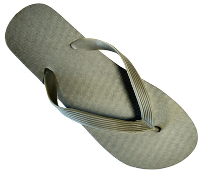 OCTAVE Mens Flip Flops - Solid Plain Design - Grey