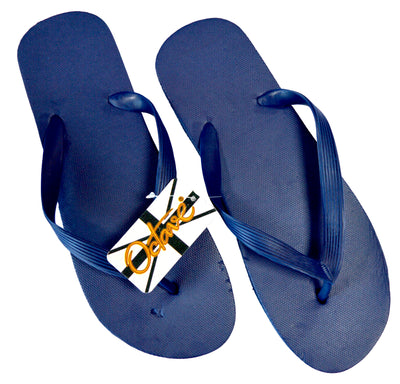 OCTAVE Mens Flip Flops - Solid Plain Design - Navy