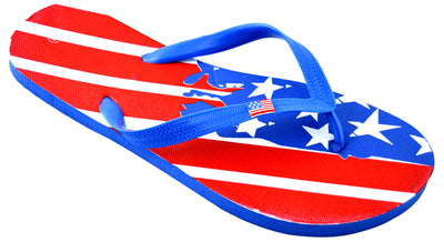OCTAVE Mens Flip Flops - American Abstract Flag Design