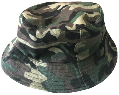 OCTAVE Reversible Bucket Hat - Camouflage Print/Black
