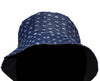 OCTAVE Reversible Bucket Hat - Navy Knit/Black