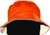 OCTAVE Reversible Bucket Hat - Orange/Cream