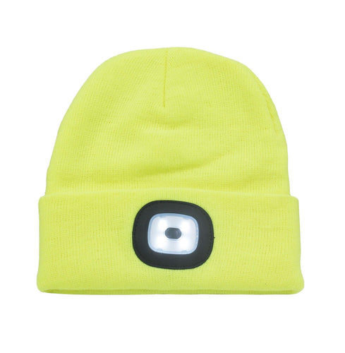 OCTAVE Ladies Mens Adults Unisex Warm Winter Turn Up Beanie Hat With LED Light