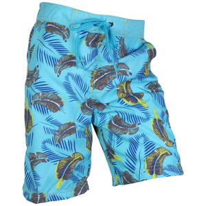 OCTAVE Boys Safari Print Beach Board Style Swim Shorts With 3 Pockets