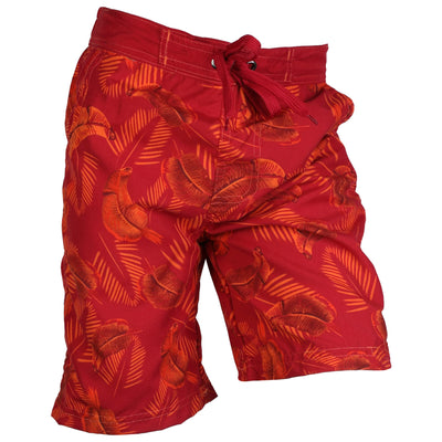 Safari Beach Board Swim Shorts Red