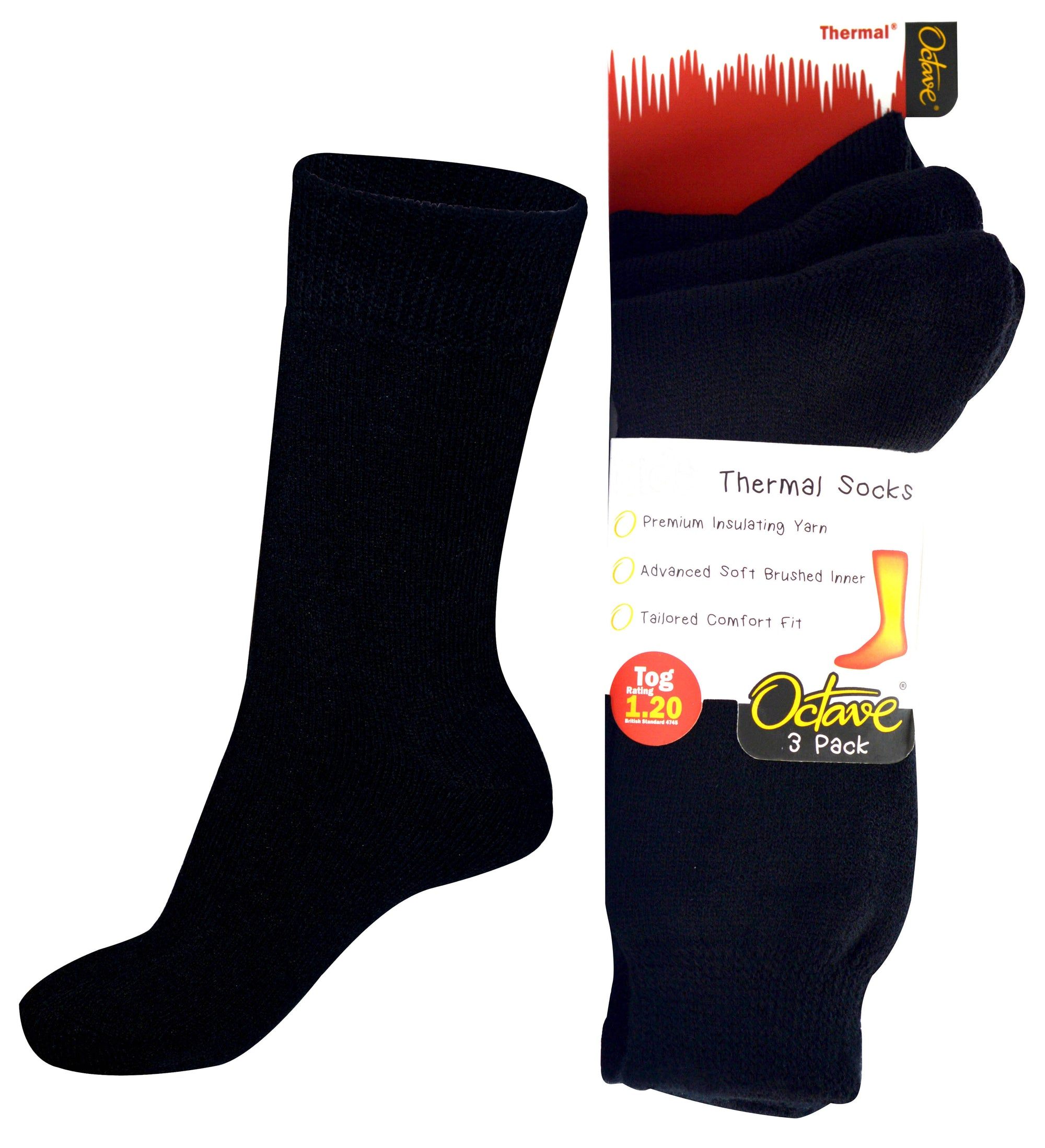 Octave® Boys Thermal Socks 1.2 Tog 3 Pack