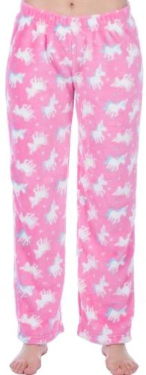 OCTAVE Girls Fun Print Design Super Soft Fleece Loungewear Pants Pyjama Bottoms