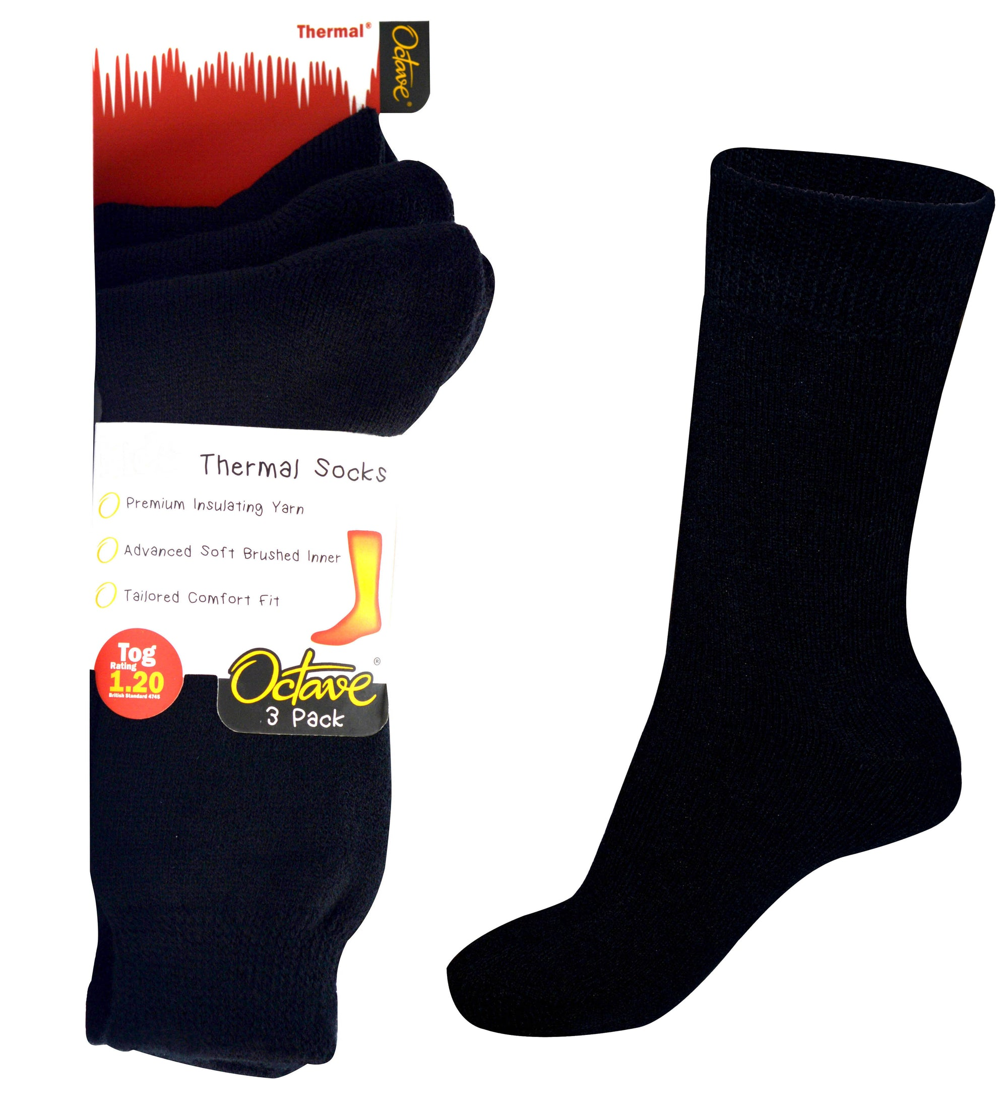 Octave® Girls Thermal Socks 1.2 Tog 3 Pack