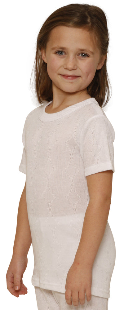 Octave® Girls Thermal Underwear Short-Sleeve Top