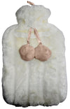Funky White Hot Water Bottle