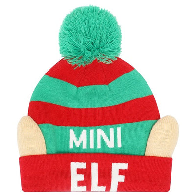 Octave Family Adults Kids Baby 3D Novelty Christmas Elf Beanie Hats with Pom Pom