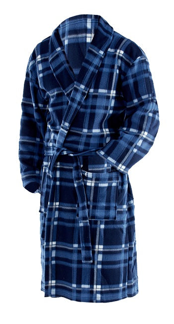 Octave Mens Polar Fleece Winter Robe/Dressing Gown
