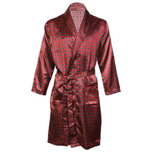 Load image into Gallery viewer, OCTAVE Mens Luxury Summer Printed Satin Kimono Wrap / Robe / Dressing Gown