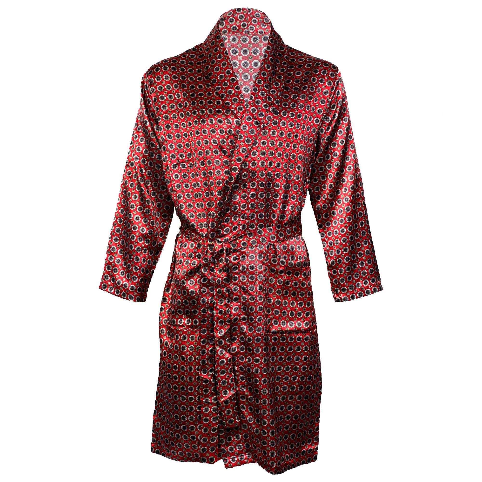 official shop coupon code search for latest OCTAVE Mens Luxury Summer Printed Satin Kimono Wrap / Robe / Dressing Gown