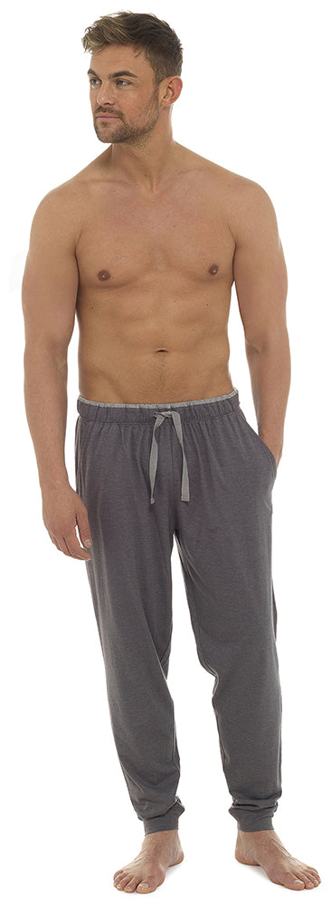 OCTAVE Mens Cuffed Soft Jersey Cotton Viscose Loungewear Pants Pyjama Bottoms