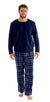 OCTAVE Mens Thermal Microfleece Top With Checked Cotton Flannel Pants Pyjama Set