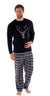 OCTAVE Mens Stag Face Thermal Microfleece Warm Winter Loungewear Pyjama Set