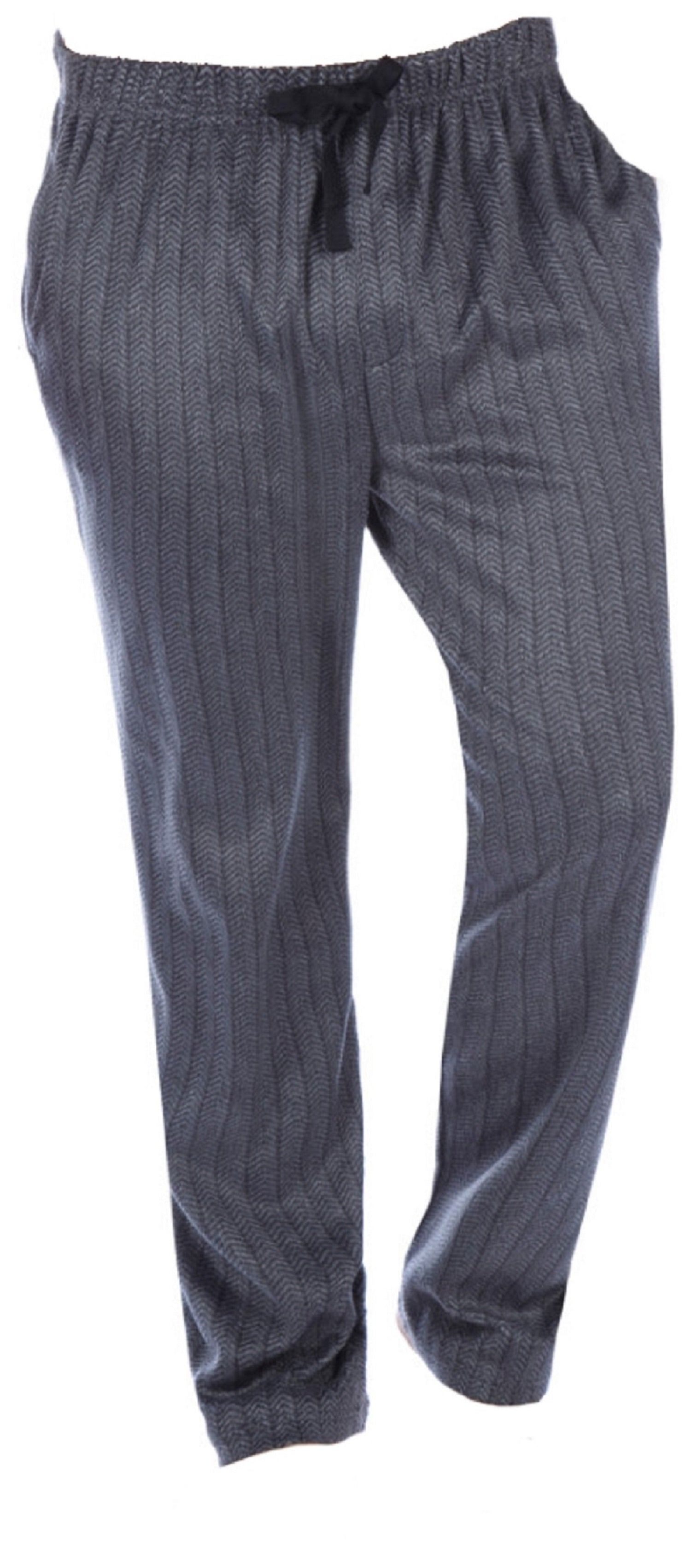 OCTAVE Mens Herringbone Soft Minky Fleece Warm Winter Loungewear Pyjama Bottoms
