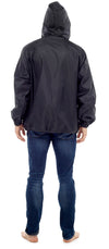 Octave Mens Lightweight Pack Away Rain Mac Showerproof Hooded Full Zip Jacket
