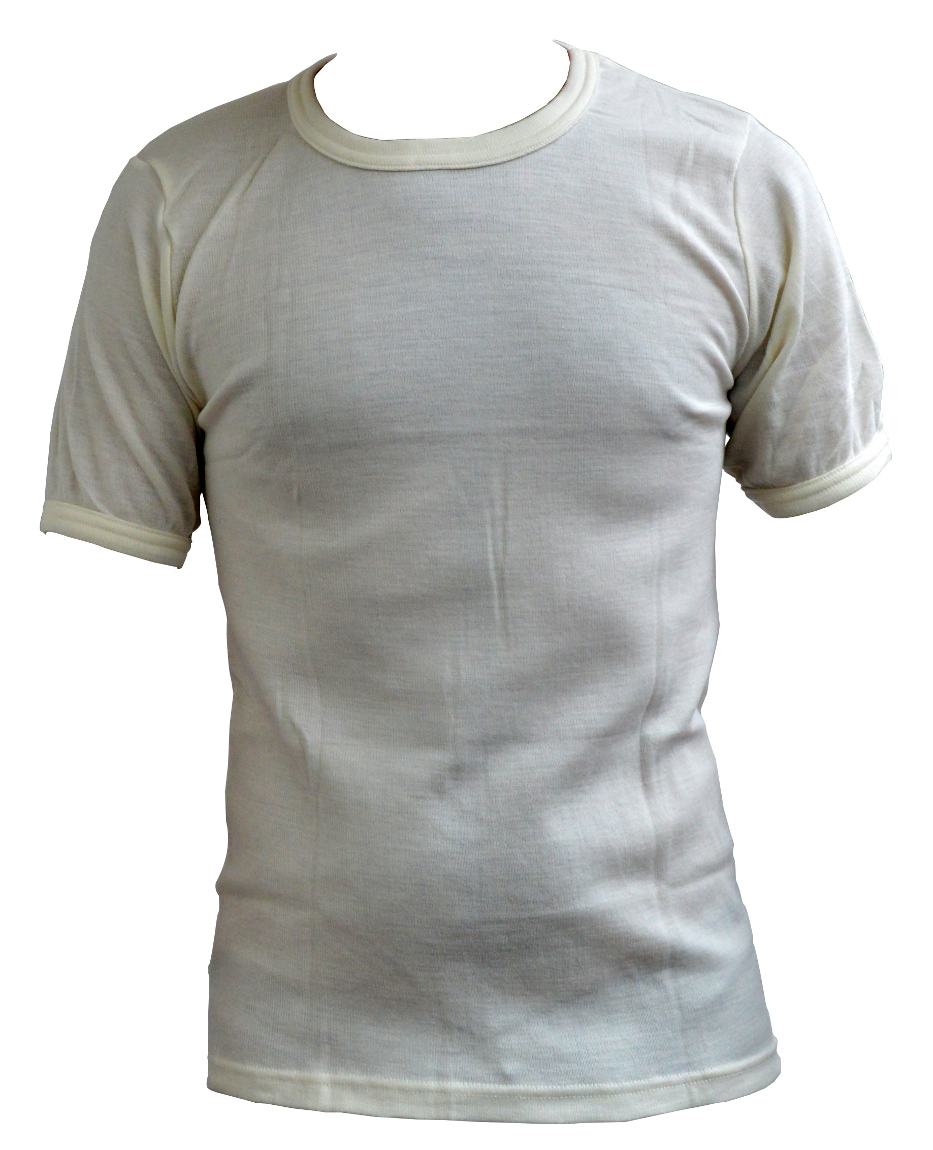 Mens wool thermal underwear t-shirt