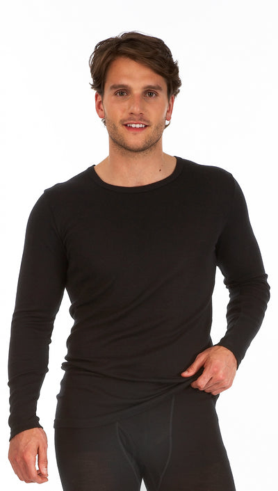 Palm Mens Invisible Seamless Long Sleeve Round Neck Thermal Top Base Layer