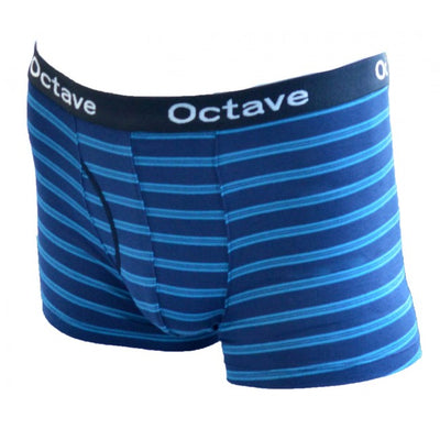 Octave® Mens Designer Striped Boxer Shorts Gift Boxed - Pack of 2