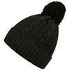 Octave Mens Thinsulate Cable Knit Beanie Hat with Pom Pom