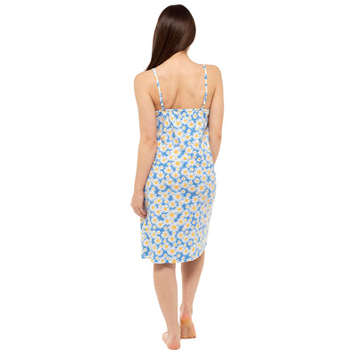 Blue Daisy chemise Nightdress nightie Back