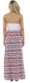 Octave Ladies Poly Cotton Aztec Print Maxi Skirt Pool Beach Cover Up