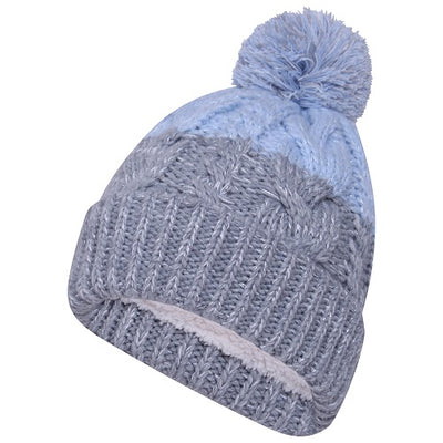 Octave Ladies Fleece Lined Beanie Hat with Pom Pom