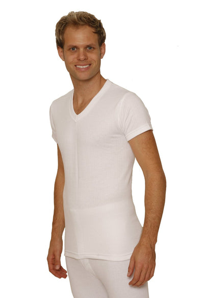 Octave® Mens Thermal Underwear Short-Sleeve V-Neck Vest